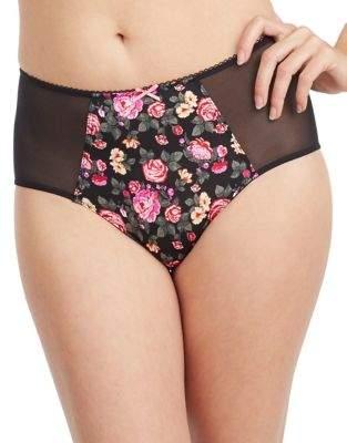Betsey Johnson Mesh-Accented Panties