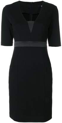 Karl Lagerfeld fitted v-neck dress