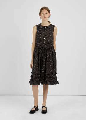 Comme des Garcons Printed Polka-Dot Dress Black