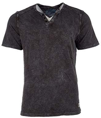 Buffalo David Bitton Men's Karwayne Short Sleeve Henley Knit Shirt