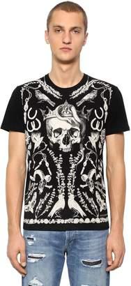Alexander McQueen Skull Organic Cotton Jersey T-Shirt