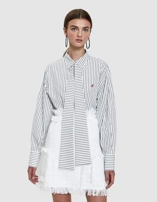 MSGM Tie Neck Shirt