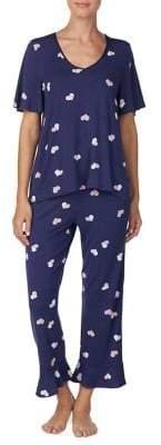 Kate Spade Two-Piece Heart Print Pyjama Set