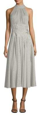 Diane von Furstenberg Dot-Print Halter Dress