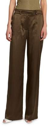 Tom Ford Silk Straight-Leg Pants