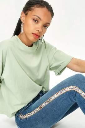 Topshop Moto jewel stripe jamie jeans