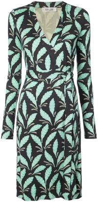 Diane von Furstenberg leaf print wrap dress