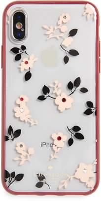 Kate Spade jeweled camellia iPhone X/Xs case
