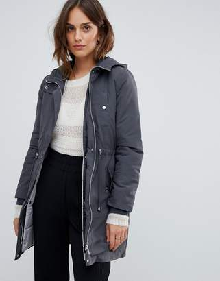 Oasis two in one parka in gray
