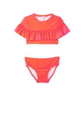 Country Road Fluro Ruffle Crop Bikini