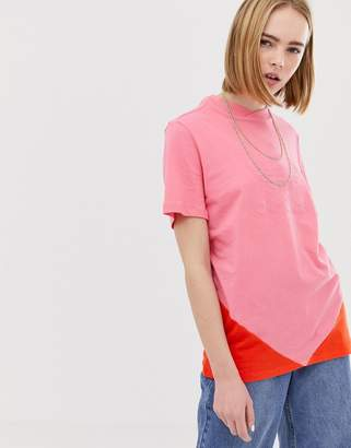 adidas CLRDO t-shirt in pink and orange
