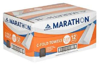 Marathon Commercial White C-fold Paper Towels Case 2