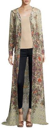 Haute Hippie Sandstorm Hooded Floral Silk Cloak, Talitha $595 thestylecure.com
