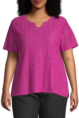 Alfred Dunner Textured Tee - Plus