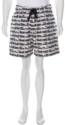 Kenzo 2014 Oversize Wave Shorts black 2014 Oversize Wave Shorts