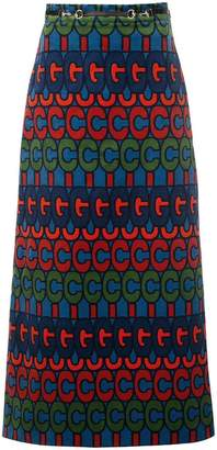 Gucci psychedelic logo print skirt