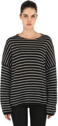 AllSaints Minnie Striped Crewneck Sweater
