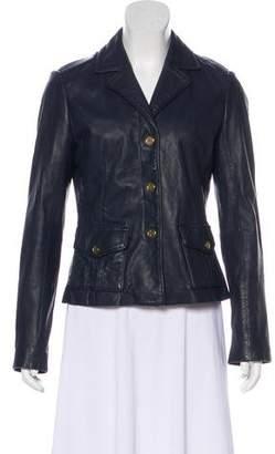 Tory Burch Notch-Lapel Leather Jacket
