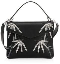 Les Petits Joueurs Embellished Leather Crossbody Bag