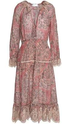 Zimmermann Lace-Trimmed Printed Cotton And Silk-Blend Dress