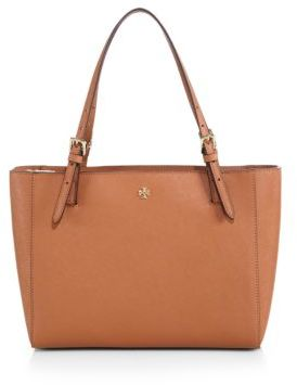 Tory Burch York Small Saffiano-Leather Tote $245 thestylecure.com