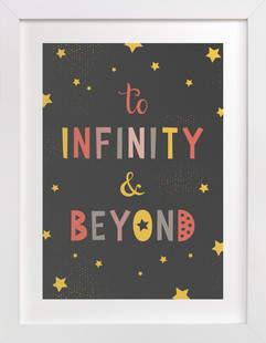 To Infinity & Beyond Children's Art Print