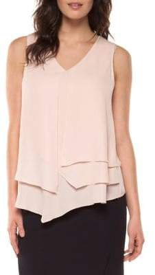 Dex Asymmetrical Tiered Sleeveless Top