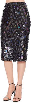 Parker Glenda Sequin Pencil Skirt