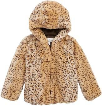 Widgeon Cozy Leopard Print Faux Fur Jacket
