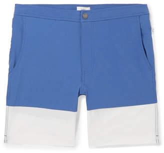 Onia Calder Long-Length Colour-Block Swim Shorts