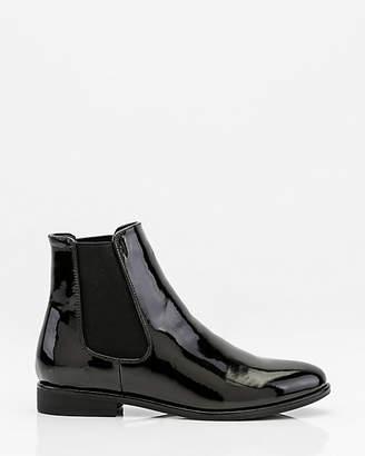Le Château Patent Almond Toe Chelsea Boot