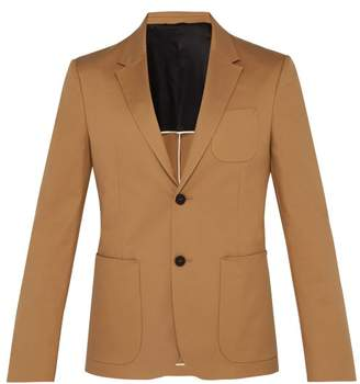 Joseph Cassis Single Breasted Cotton Blend Twill Jacket - Mens - Camel