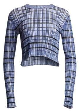 Proenza Schouler Striped Rib Knit Sweater