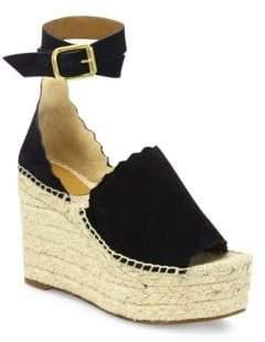 0a46cc28e249 at Saks Fifth Avenue · Chloé Lauren Suede Ankle-Strap Espadrille Wedge  Sandals