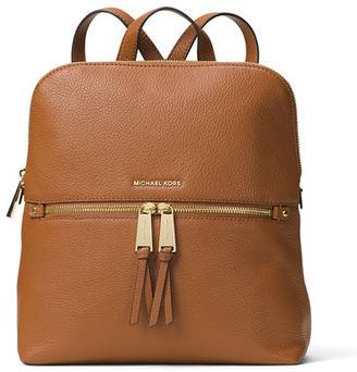 MICHAEL Michael Kors Rhea Medium Slim Leather Backpack $258 thestylecure.com