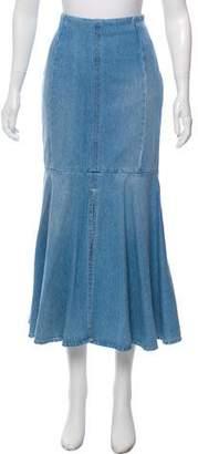 Kenzo Denim Midi Skirt w/ Tags