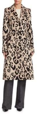 Altuzarra Leopard Print Wool-Cashmere Coat