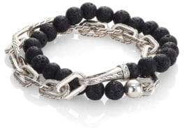 John Hardy Classic Chain Collection Beads& Link Bracelet