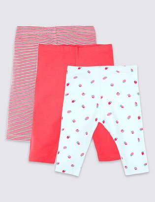 Marks and Spencer 3 Pack Organic Cotton Leggings