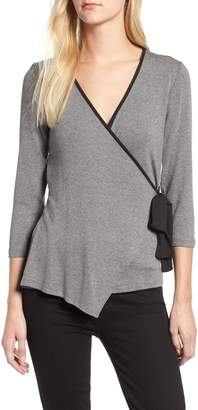 Bobeau Tipped Wrap Top
