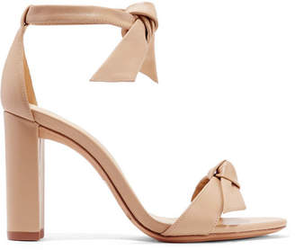 Alexandre Birman Clarita Bow-embellished Leather Sandals - Beige