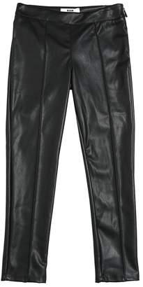 MSGM Faux Leather Leggings