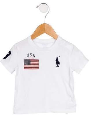 Ralph Lauren Boys' Embroidered Crew Neck T-Shirt