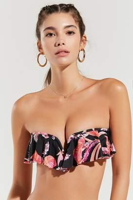 Tori Praver Swimwear Kamille Flounce Bandeau Bikini Top