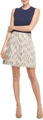 Gal Meets Glam Paige Tweed A-Line Skirt