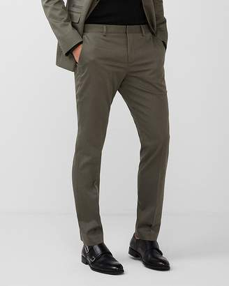 Express Slim Green Cotton Sateen Suit Pant