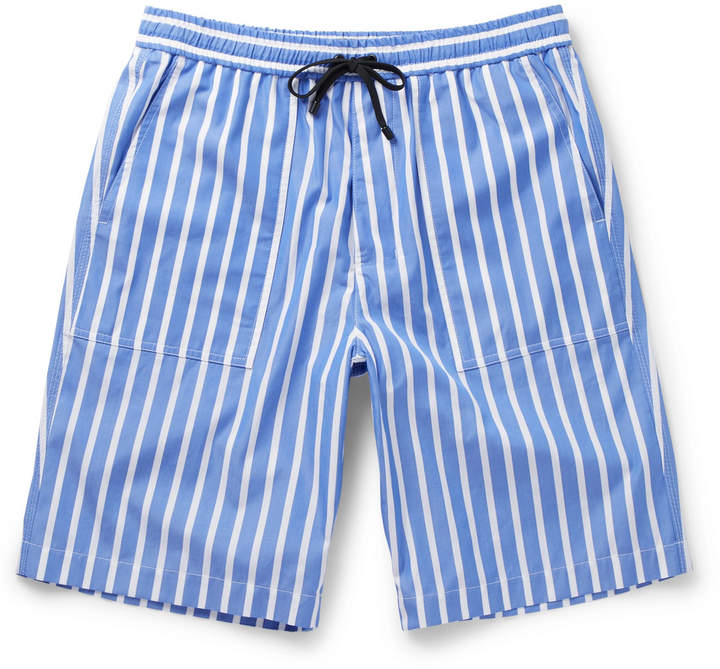 Striped Cotton Bermuda Shorts