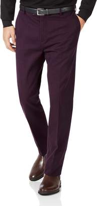 Charles Tyrwhitt Wine Slim Fit Flat Front Non-Iron Cotton Chino Pants Size W30 L30