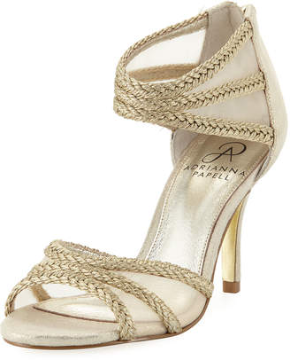 Adrianna Papell Atlas Mesh/Metallic-Rope High-Heel Evening Sandal