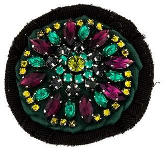 Prada Crystal & Fabric Brooch